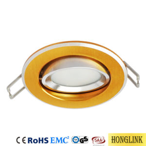 LED Downlight encastré dans le plafond d'inclinaison de montage, GU10 Raccord d'éclairage vers le bas, Ampoule de LED Downlight logement