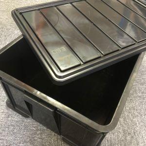 Banheira de venda da caixa de plástico condutiva antiestático