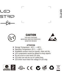 Ce 3000K SMD1210 120LEDs/M, indicatore luminoso impermeabile dell'UL di 9.6W/M IP65 LED