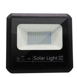 60W à intensité réglable de sécurité CMS à la batterie de secours d'urgence IP65 lampe eclairage extérieur Projecteur à LED à énergie solaire