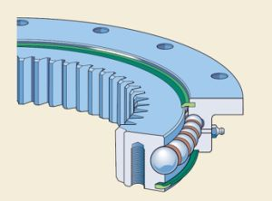 Caciones. 22 de 0641 de brida de SKF rodamientos de anillo de rotación con un engranaje interno