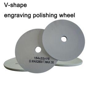 V-forme de polissage de gravure Roue, roue de rainurage, outil de verre