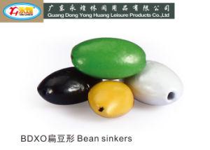 Sinker de chumbo de pesca tipo tipo feijão (005)