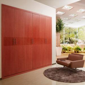 Wardrobe articulado de madeira interno vermelho de Oppein Brown (YG11333)