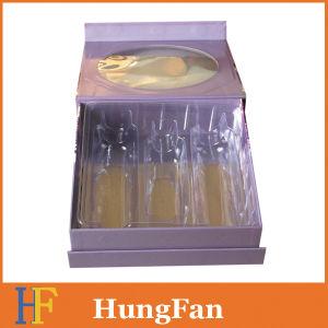 Vakje van het Document van de Gift van het Karton van het Pakket van de douane het Kosmetische met Deksel