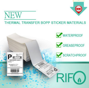 Livre de BPA Papel sintético de revestimento térmico sensíveis com certificação da FDA