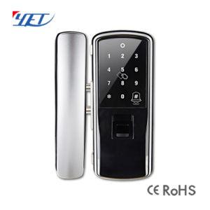 ホームセキュリティーの携帯電話APP Cy904が付いているガラスドアロック