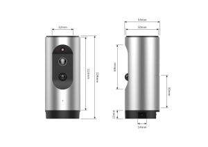 Bidirektionaler Gespräch WiFi Kamera-Bau in der Batterie, Minikamera-inländisches Wertpapier-Baby-Monitor