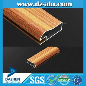 Grano di legno del tubo del tubo di profilo del portello della finestra di alluminio della Libia