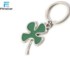 주문 싼 가격 녹색 꽃 금속 Keychain