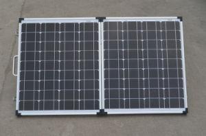 Plegado de 100W panel solar portátil plegable para la carga en el Camping