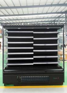 Supermercado abierto Multideck refrigerador con iluminación LED para todas las Estanterías