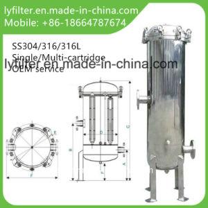 Imbarcazione industriale delle custodie di filtro della cartuccia dell'acciaio inossidabile degli ss
