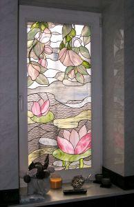 Arte Artesanía Tiffany Vitrales de la ventana del Panel