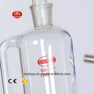 증류기 단 하나 유리제 반응기를 사용하는 실험실