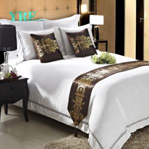 L'assestamento di Yrf 100%Cotton imposta gli insiemi bianchi dell'assestamento della tela di base dell'albergo di lusso
