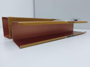 2019 Nuevo Top Venta de grano de madera techo Deflector de aluminio