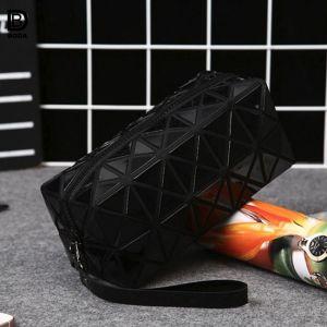 Fermeture éclair étanche géométrique de la mode Rhombus Voyage Sac de cosmétiques pour dames