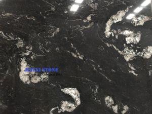 Titanium een Klassiek Zwart die Graniet uit Countertop van Brazilië Plakken wordt ingevoerd