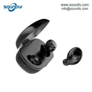 Tws本当の小型単一の無線EarbudのステレオはBluetoothのイヤホーンを遊ばす