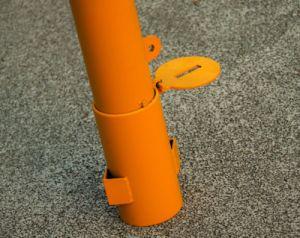 Seguridad vial desmontable recubierto amarillo balizas