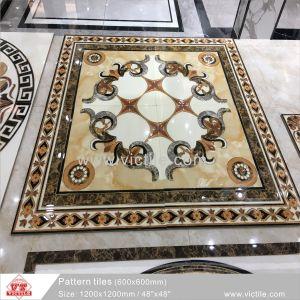Het veelkleurige Materiële Tapijt van het Porselein van de Tegel van de Vloer voor de Bouw (VA12P6080, 1200X1200mm)