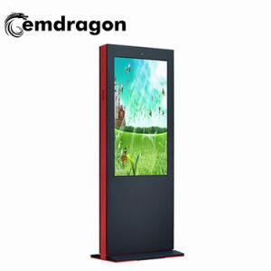 55 polegadas LCD de alta luminosidade de Chão HD publicidade exterior Media Monitor Android Market 3G/4G Ad Digital Signage Player monitor de ecrã táctil