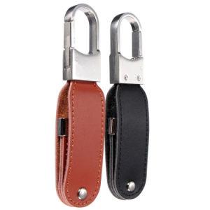 Корпоративные подарки поворотный флэш-накопитель USB из натуральной кожи