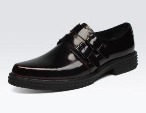 Cualquier Logo Mens zapatos de vestir de cuero con hebillas dobles
