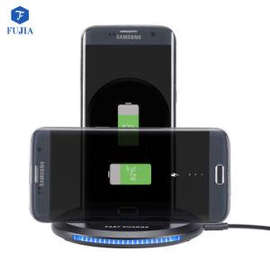 iPhone8、IphonexおよびSamsunyの携帯電話のためのU8 3コイルのチーの互換性のある速い無線充電器