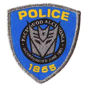 Kundenspezifische Polizei Badge Stickerei-Änderung am Objektprogramm mit Custon Firmenzeichen als Dekoration (004)