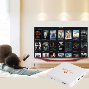 Heißer Verkaufs-MXmini weißes Android IPTV Fernsehapparat-Kasten S905X 2GB ROM 4K DES RAM-/16gb mit Netflix 2.4G WiFi Fernsehapparat-Kasten 2017 Media Player