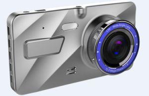 4 pulgadas de 1080p coche DVR cámara con lente doble