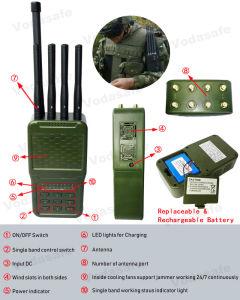 De volledige Stoorzender van de Zak van de Band met Blokkeren van de Hoge Macht 4700mA Attery het Nieuwste Draagbare Hanheld voor CDMA/GSM/3G UMTS/4glte cellphone/Gpsl1/Wi-FI 2.4G/5.8g