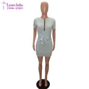 La mujer sexy cortar Bodycon vendaje con cremallera mini vestidos