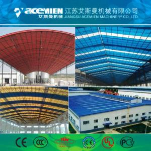 machine à profiler Rollformers double couche PVC toiture tuile ondulé Panneau mural Tile Making Machine