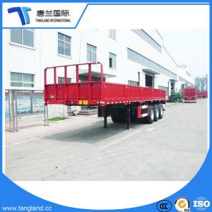 Rimorchio della parete laterale dei 3 assi semi per il trasporto del carico all'ingrosso e grande