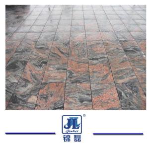 平板のための自然な磨かれた多色刷りの赤い花こう岩かタイルまたはカウンタートップまたは墓碑または墓石