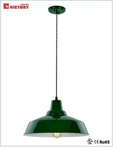 Popular decorativa Industrial verde redondo Droplight pendurar em metal