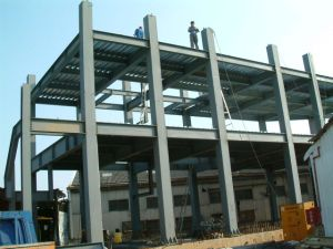 Chorreado de arena grado SA2.5 Edificio de estructura de acero multicapa