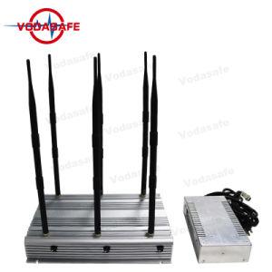 De hoge Macht Cellphone die, wi-FI, Lojack, GPS Stoorzender/Blocker, Stationaire 90W Stoorzender 6bands/de Mobiele Isolator van het Signaal van de Telefoon, 4/7hours, kon blijven werken werken