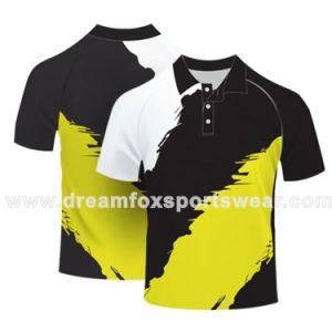주문을 받아서 만들어진 로고 건조한 적합 폴로 셔츠, 도매 폴리에스테 최신 디자인 색깔 조합 폴로 셔츠