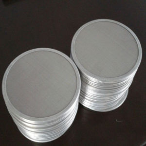 60-120 disco del vaglio filtrante dell'acciaio inossidabile della maglia con il vaglio filtrante di alluminio del collegare del bordo