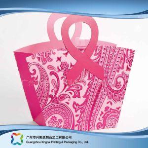쇼핑 선물 옷 (XC-bgg-011)를 위한 인쇄된 종이 포장 운반대 부대