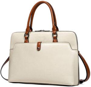 Тонкий бизнес портфель большого объема масла воск провод фиолетового цвета кожи 15,6-дюймовый ноутбук дамы плечо дамской сумочке
