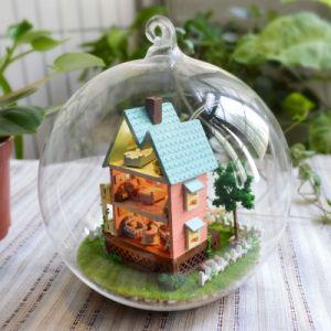 Sfera di vetro miniatura B-003 del regalo della Camera di bambola di Cuteroom DIY