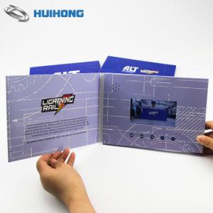 Tela LCD HD Brochura de vídeo com impressão personalizada