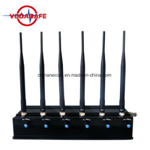 Высокая мощность GPS, WiFi, ОВЧ и УВЧ и сотовый телефон перепускной 6 антенна, кражи Lojack перепускной блокировка для мобильного телефона, пульт дистанционного управления 433 Мгц/315 Мгц и Gpsl1