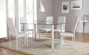 유리제 식당 테이블과 4 6 Chairs Set