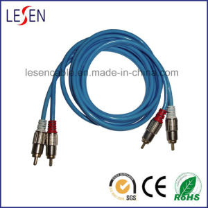 RCA Cable, RCA 2 zu RCA 2, mit Metal Shell Assembly